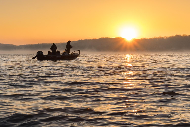 Early morning fishermen.