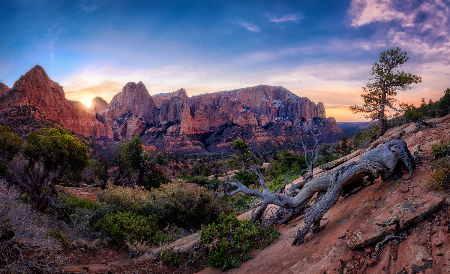 """""""Kolob Canyon Sunrise"""" - Captured on March 12, 2017, after doing some night photography and catching some sleep in the car while waiting for the sun to come up. Another of the amazing locations in Zion National Park."""
