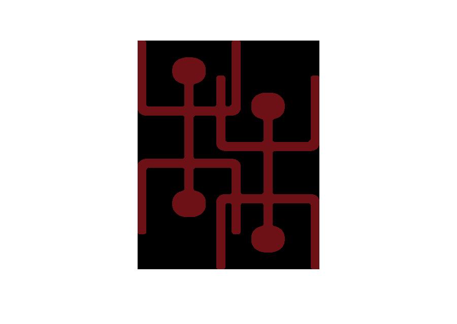 The Kū-A-Kanaka icon represents four combined kanaka, stylized to reflect the digital age and endeavors Kū-A-Kanaka is heading towards.