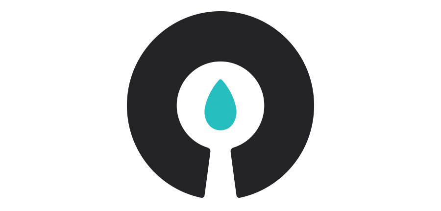 The  Candela Strategy Group  icon is a candle glowing in the dark. The negative space forms the stick of a candle and its glowing light.