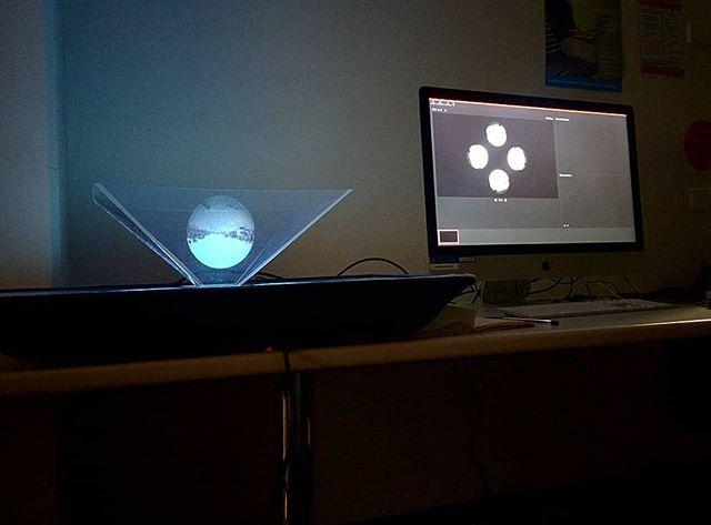 Upscaling a lo-fi hologram for a new work. . . . . . . #lofi #diy #hologram #art #potd #vca #studio #wip #tech