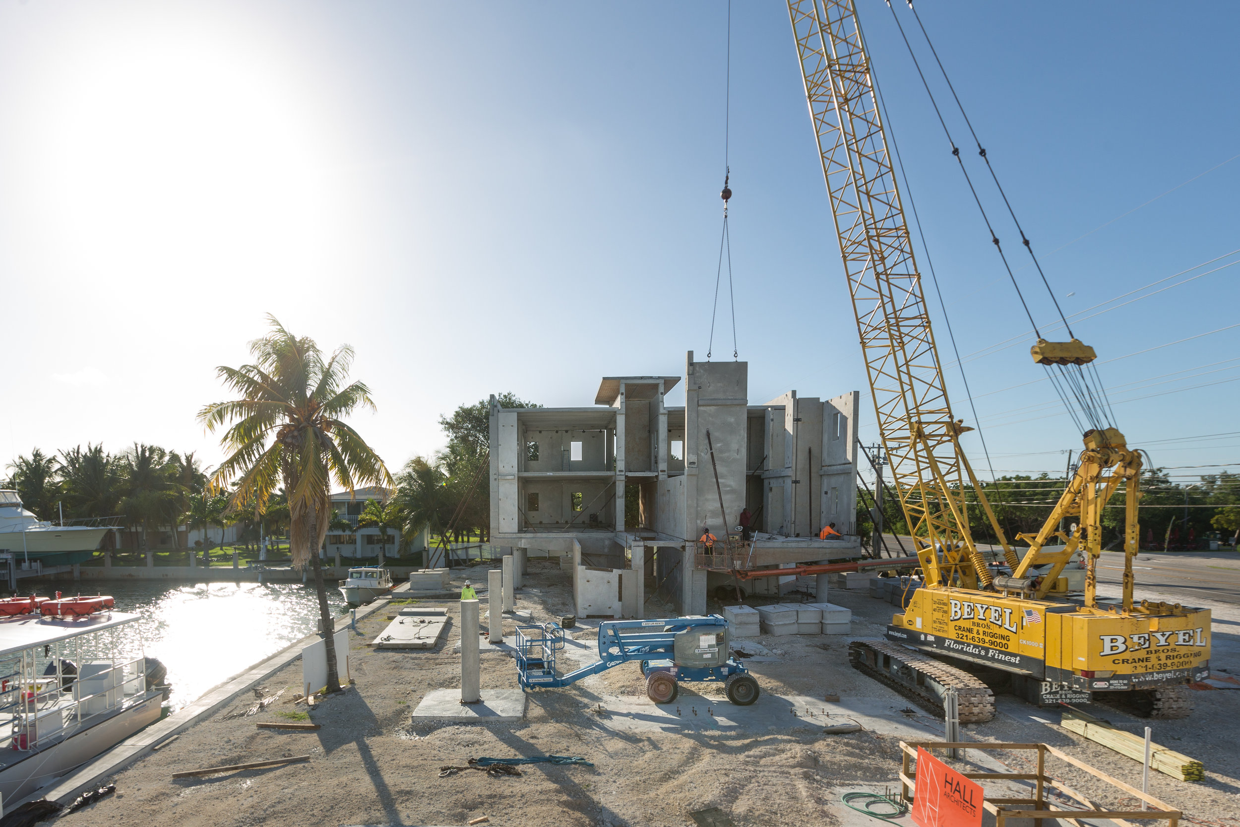 The new lab in the process of being built. Completed in April of 2017, Mote's new building is category 5 hurricane proof, and passed the test that September when Hurricane Irma devastated the Florida Keys.