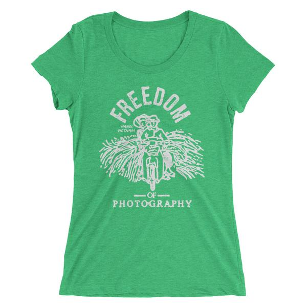 This design is inspired from my time in Hanoi, Vietnam. Its based on my photograph of an elderly couple with a fresh harvest of sugar cane on the back of a motorbike. Click here to see this original photograph. http://www.freedomofphotography.com/vietnam