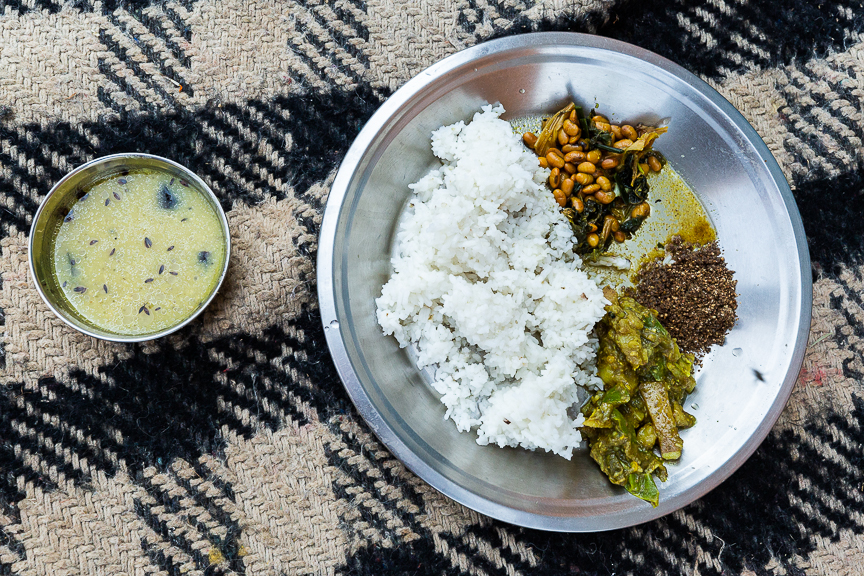 Dal Baht is a common Nepalese dish. This is what we ate most of the time.