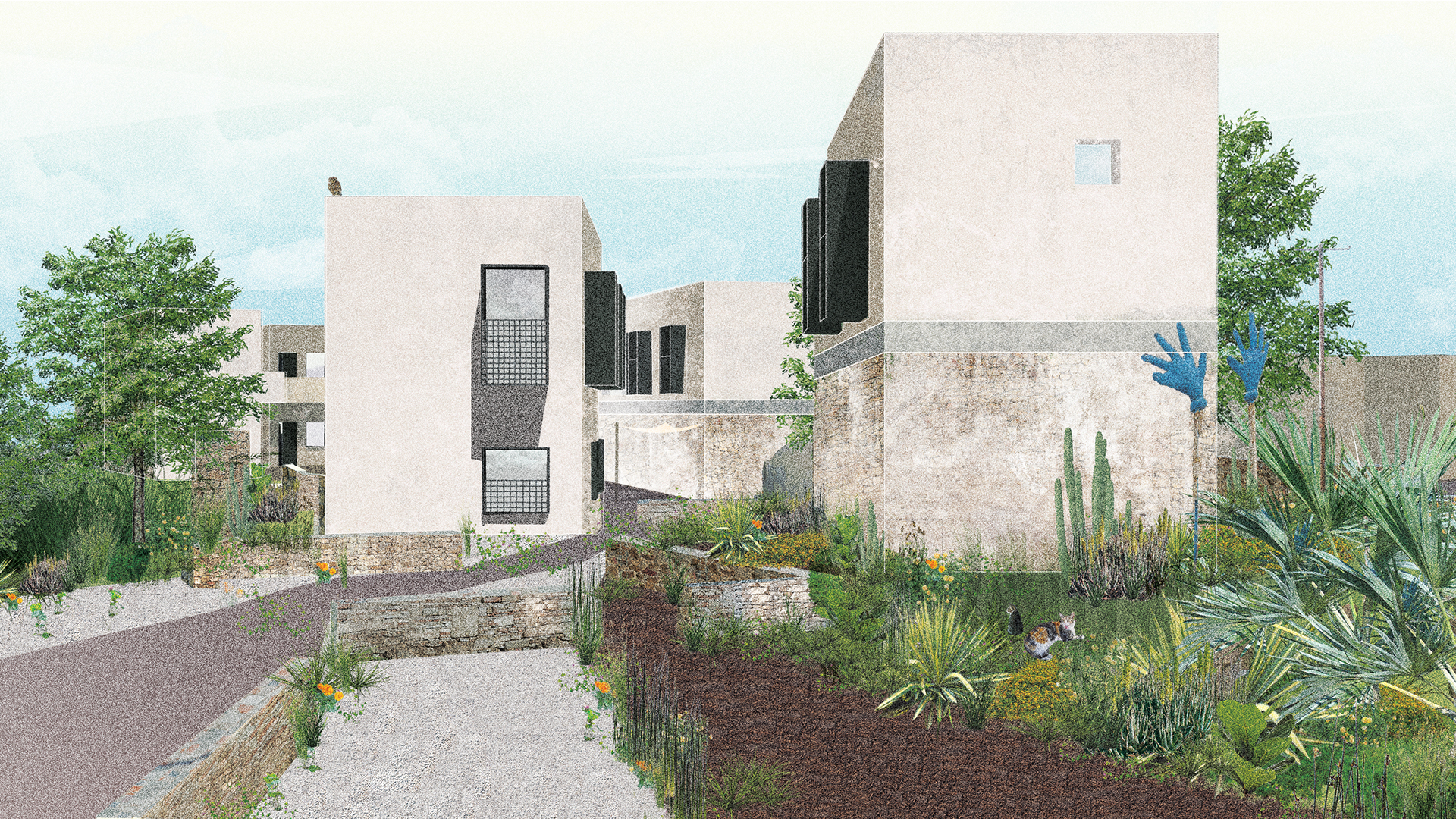 Artists Residence. Elevation.
