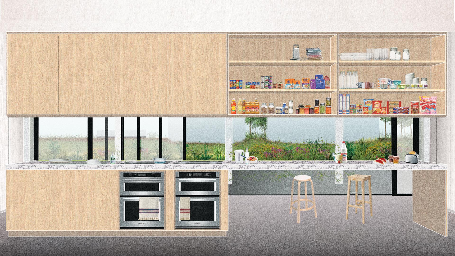 Students Residence. Kitchen.