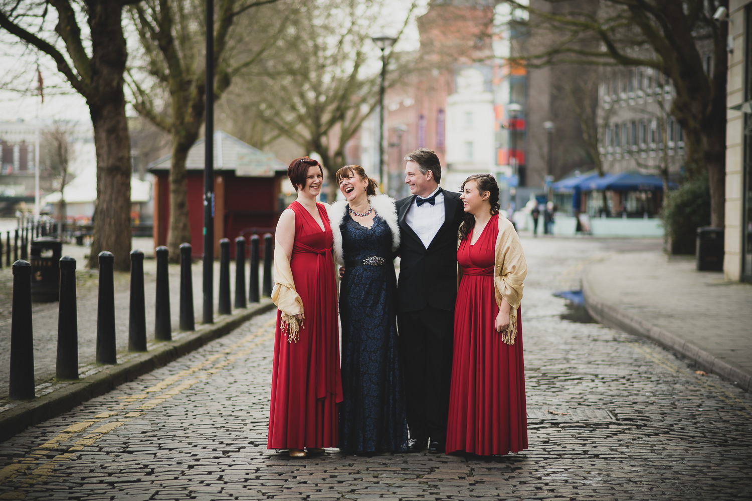 winter wedding group photos in bristol uk