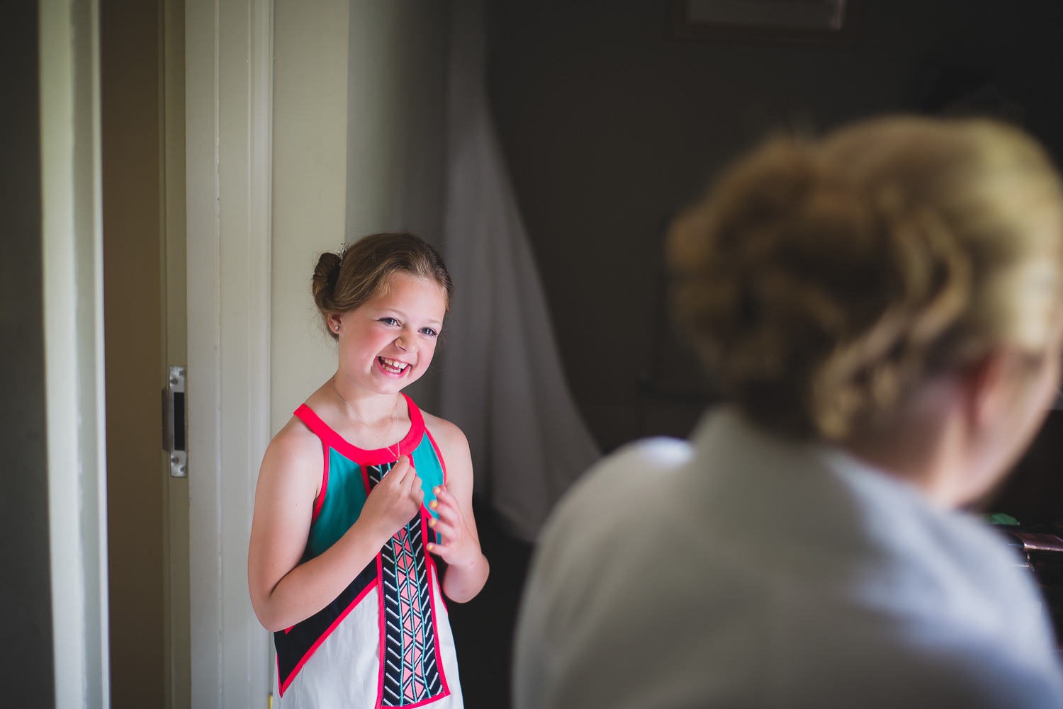 really cute photo of young girl at wedding