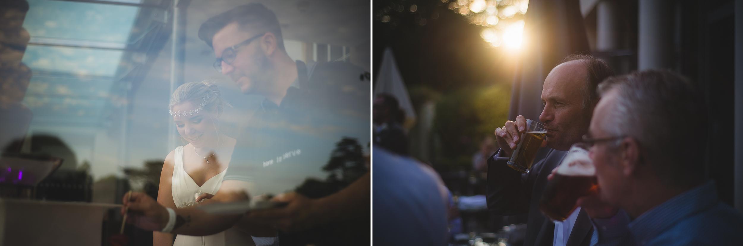 golden hour light wedding photography
