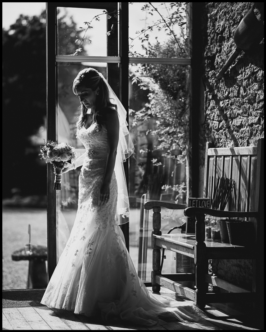 great tythe barn wedding photography natural bridal portraits