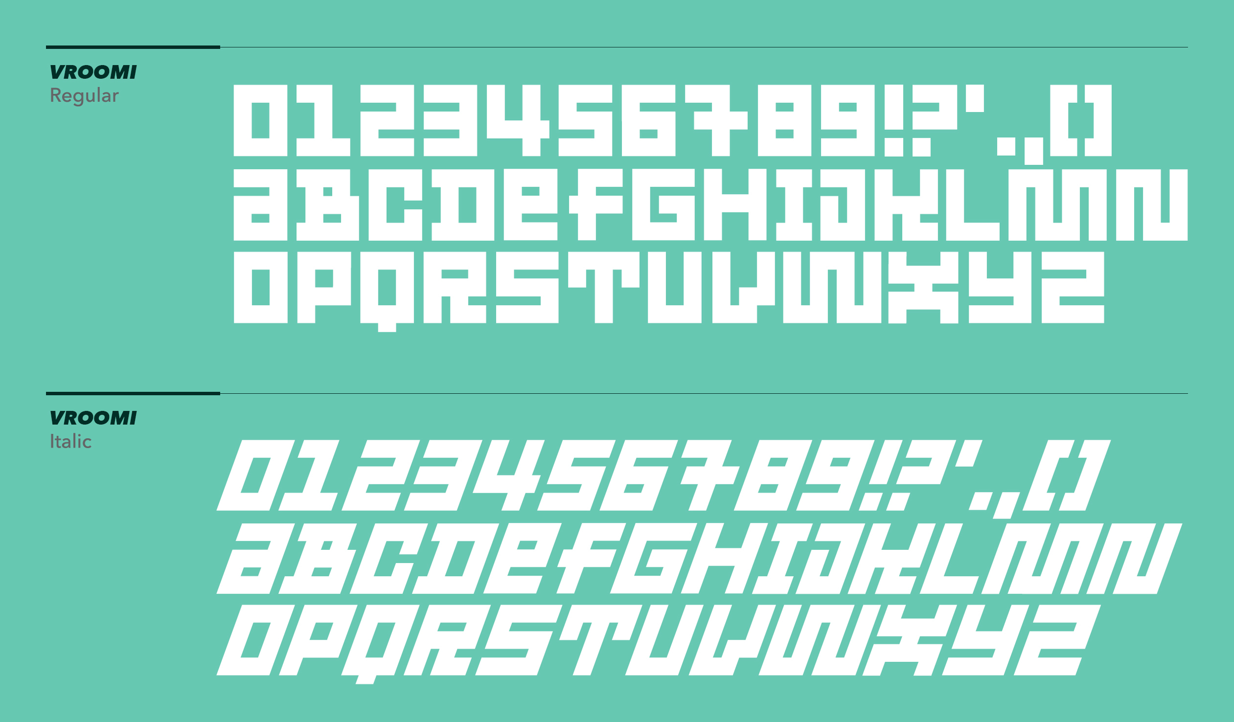 Club-sandwich-vroomi-Typeface