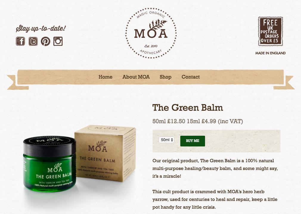 Moa, The Green balm