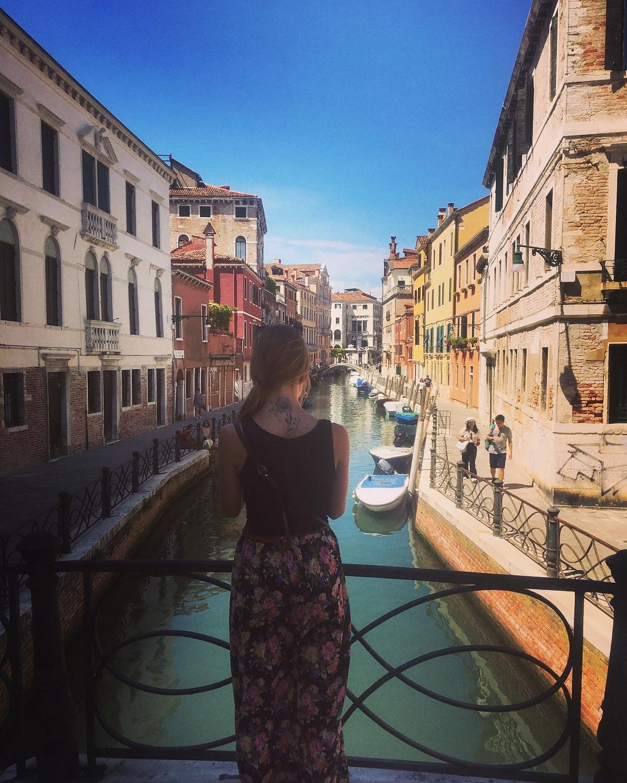 Een foto van mij in Venetië - Italia