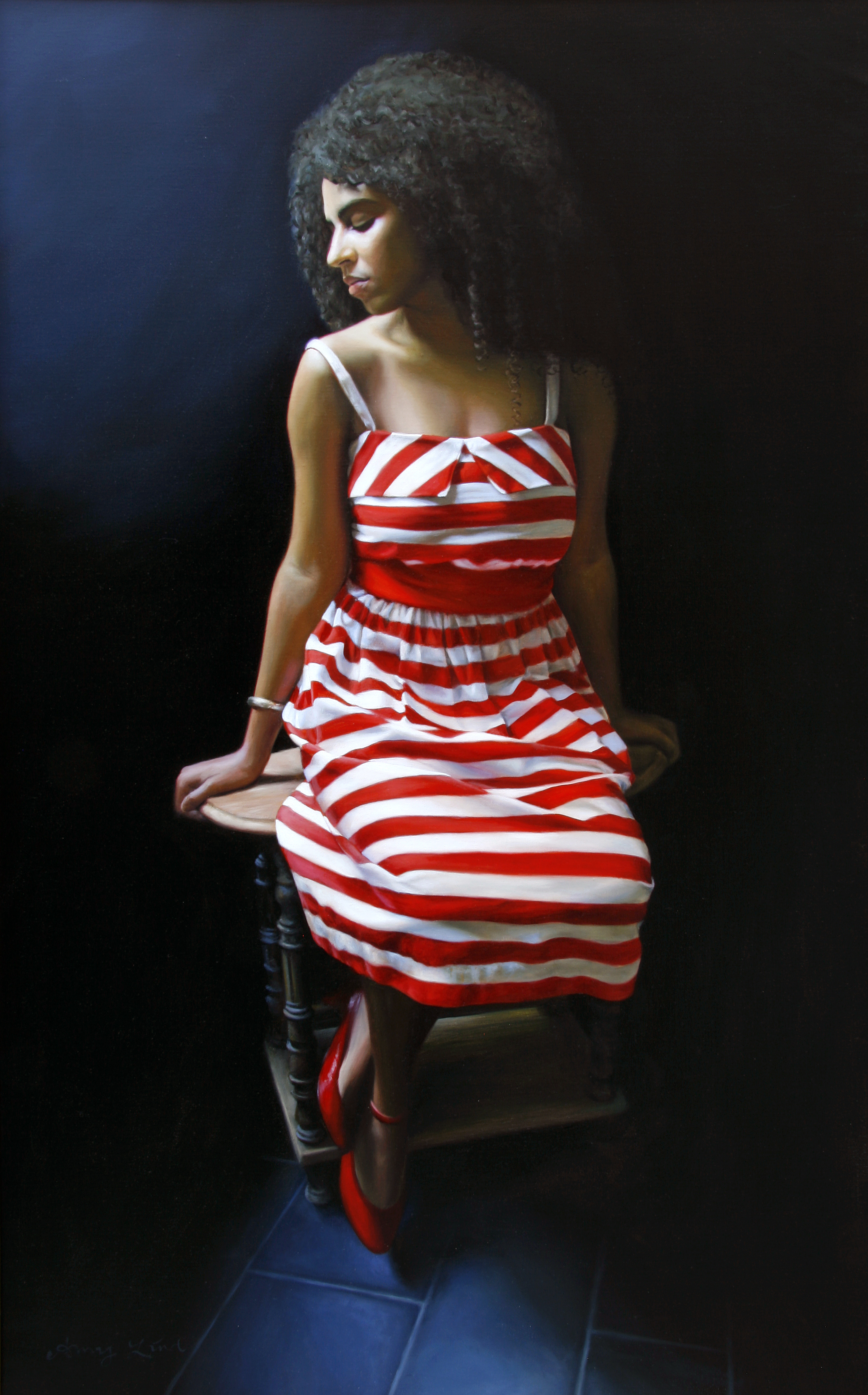 "The Lines Between   54"" x 34""    Oil on Linen   SOLD"