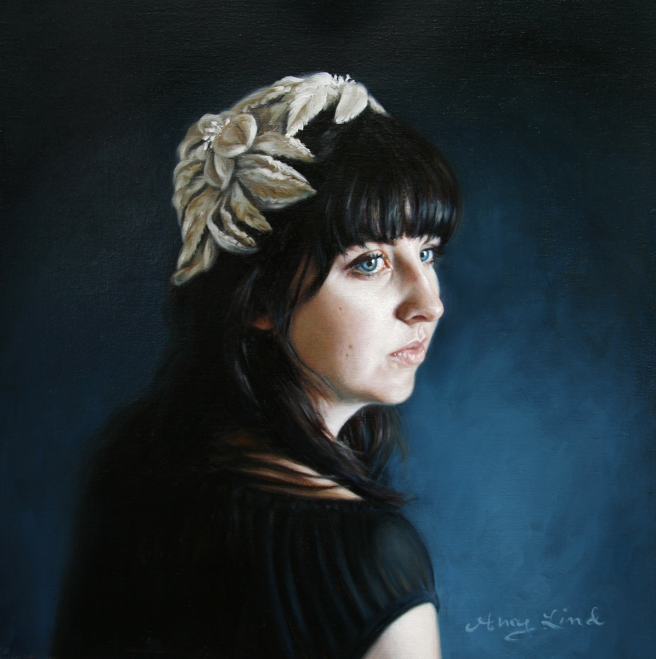 "Blue   17"" x 17""   Oil on Linen   AVAILABLE - contact the artist"