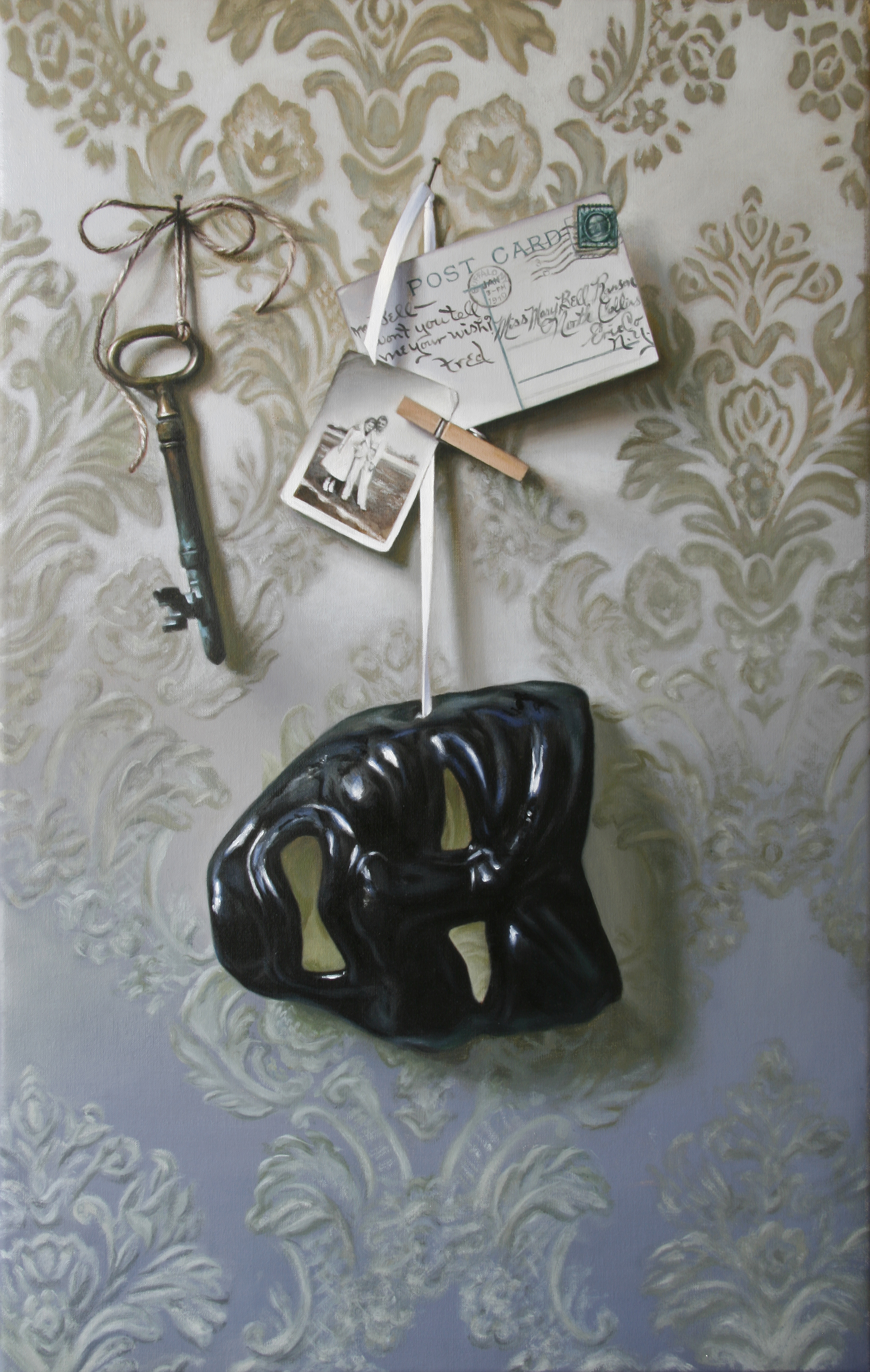 """Hanging by a Thread   22"""" x 14""""  Oil on Linen   SOLD   { dyptich 2 of 2 }"""