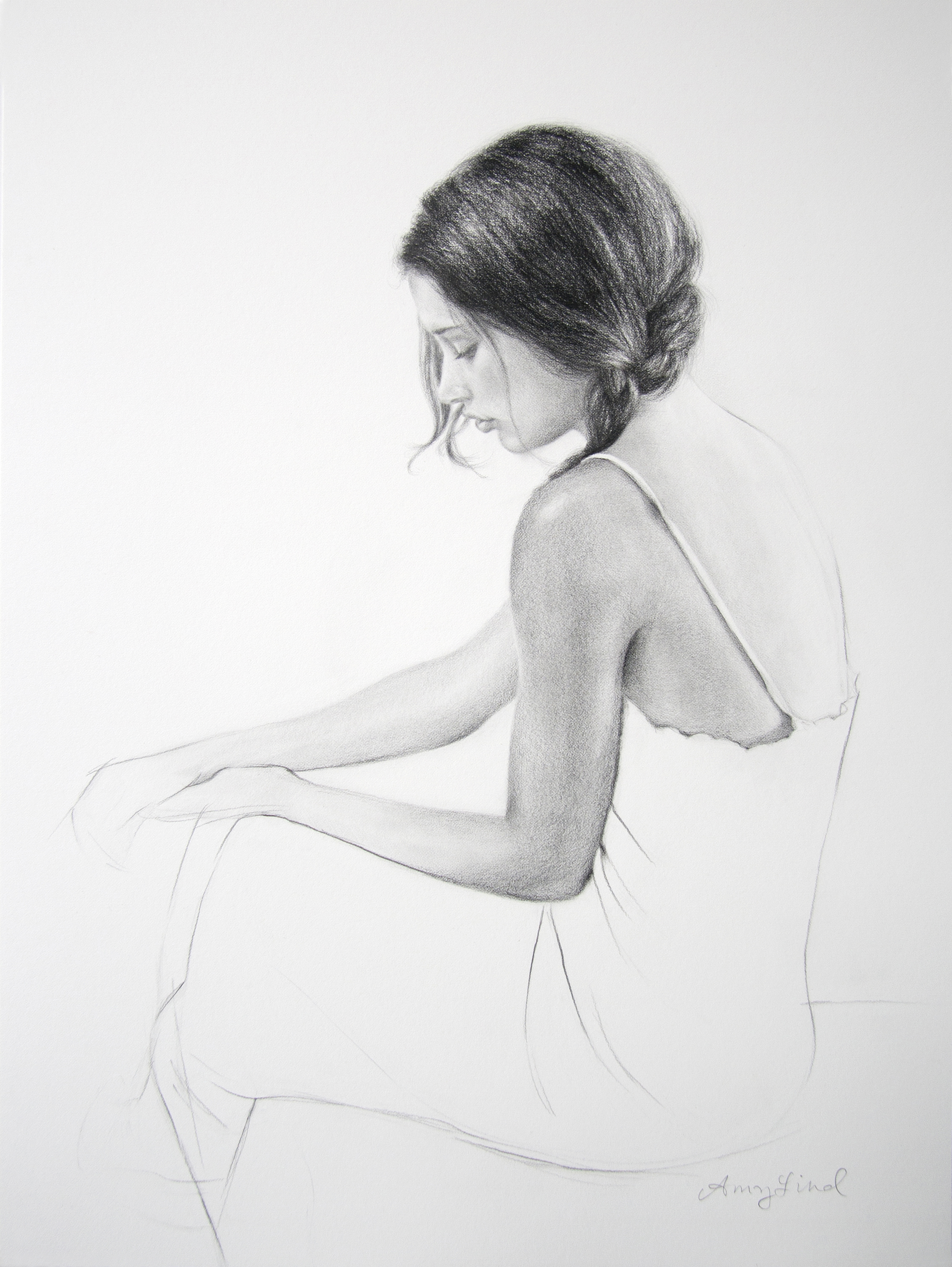 "Kayleigh   24"" x 18""   Graphite on Paper  SOLD"