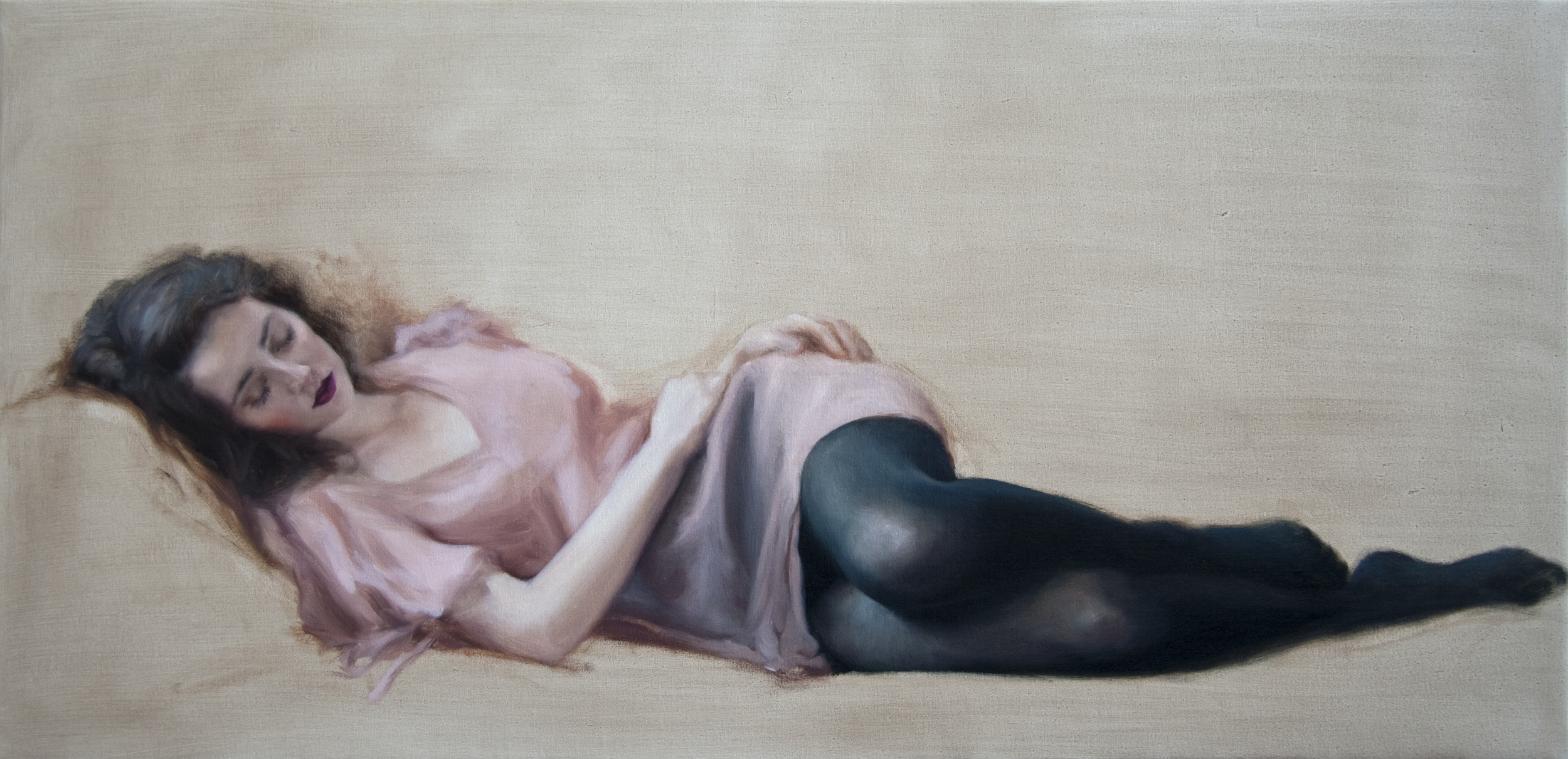 "Repose   17"" x 35""    Oil on Linen   SOLD"