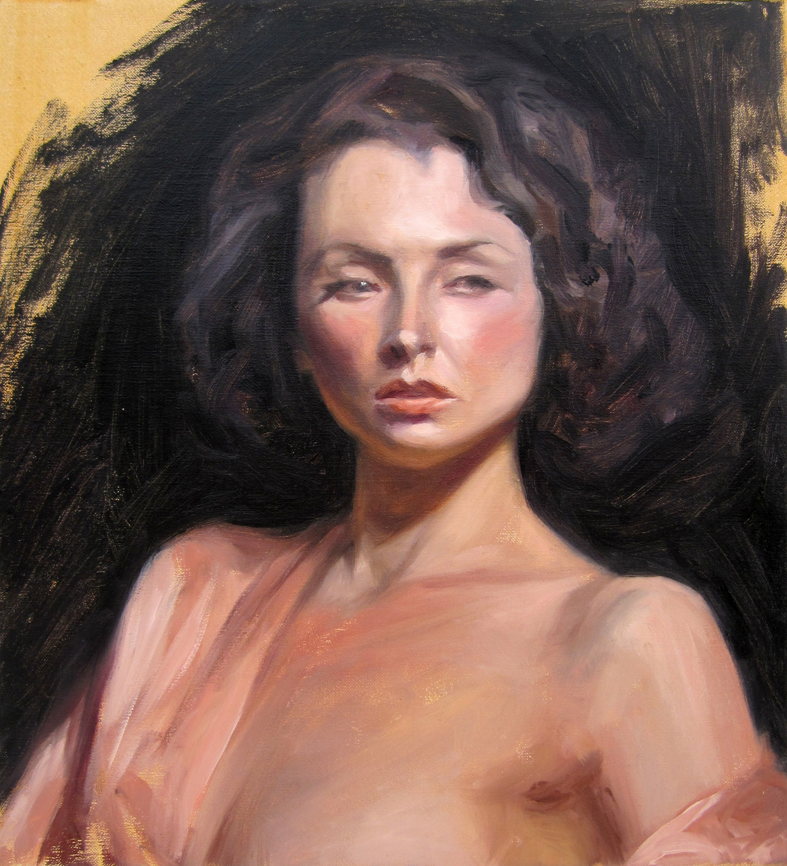 """Dalilah Study   11"""" x 10""""  Oil on Linen   SOLD"""
