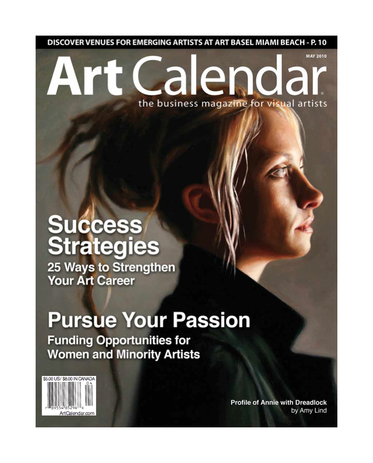 PAINTING ON COVER OF   Art Calendar   (now called   Professional Artist  )   May 2010