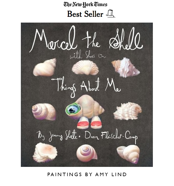 All images from the children's picture book  Marcel the Shell With Shoes On: Things About Me  © Jenny Slate and Dean Fleischer-Camp  Published by   Penguin Books    Paintings by Amy Lind