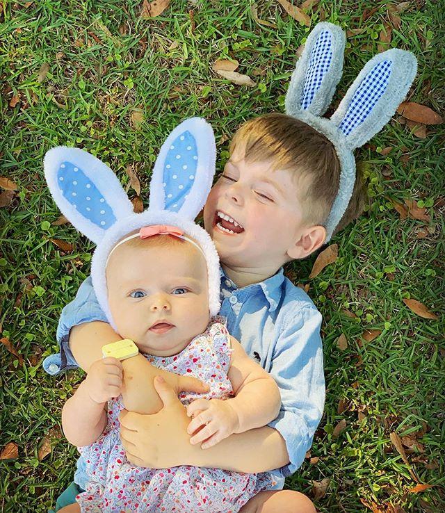 Easter shenanigans! 🐰🥕🥚🐣🌷 #oliviajuniper #forrestryder #easter #happyeaster