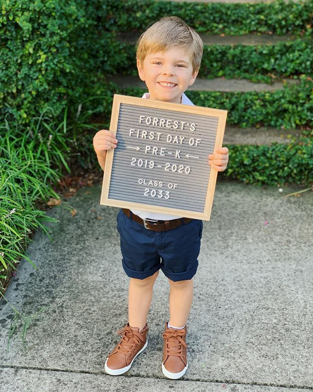 So proud of this big boy!! 👦🏼 I knew he was excited for his first day of Pre-K, yet I was still surprised at how content and comfortable he was immediately stepping foot into his new classroom! How is this happening already?! 😭🥰 #allthefeels #firstdayofschool #prek #forrestryder