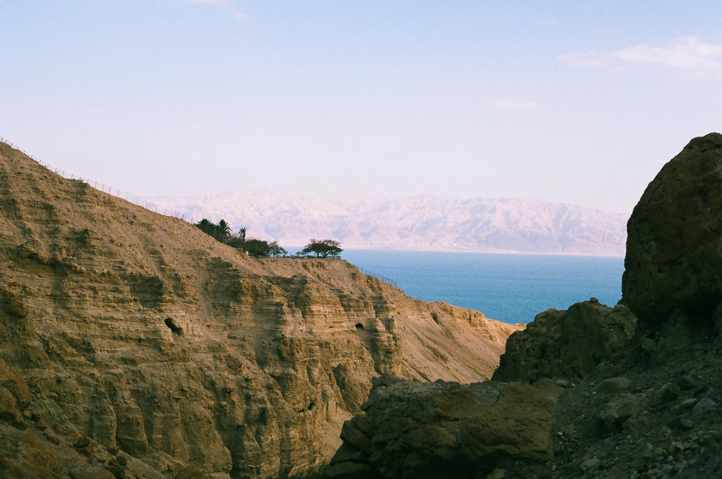 View from inside Ein Gedi