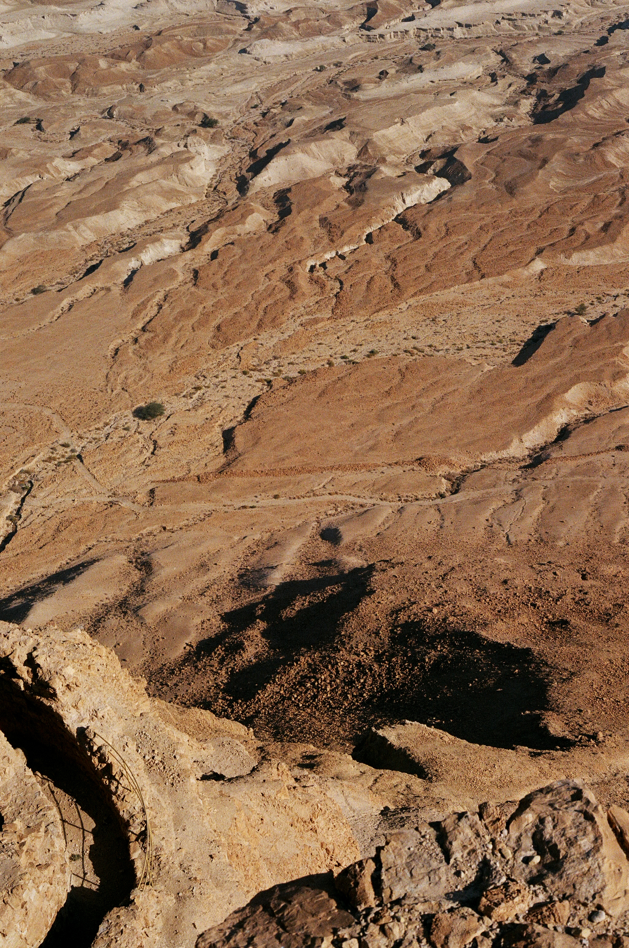 """The view from Masada (מצדה metsada """"fortress"""") is an ancient fortification in the Southern District of Israel situated on top of an isolated rock plateau, akin to a mesa."""