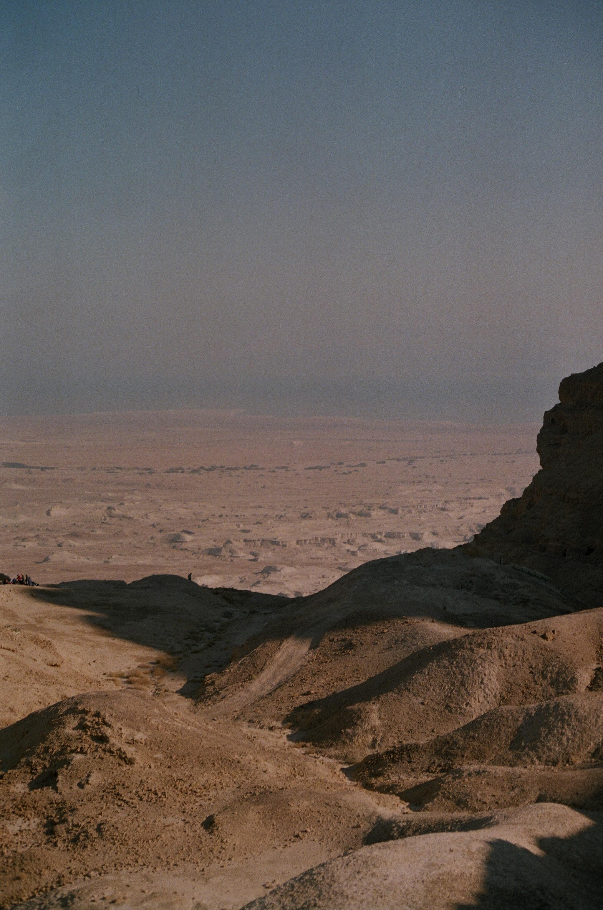 Portrait of the dunes that lie beneath Masada