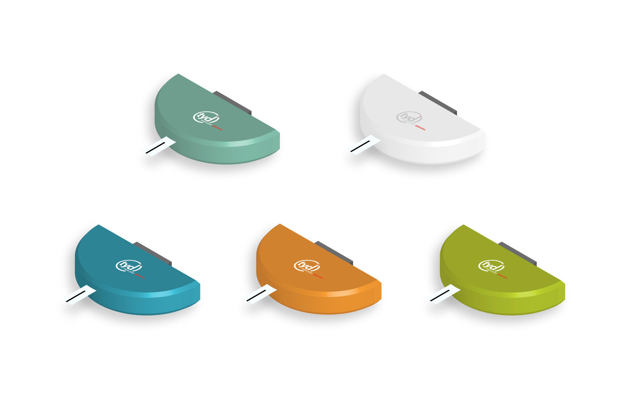 TYD glucose meters and color variations