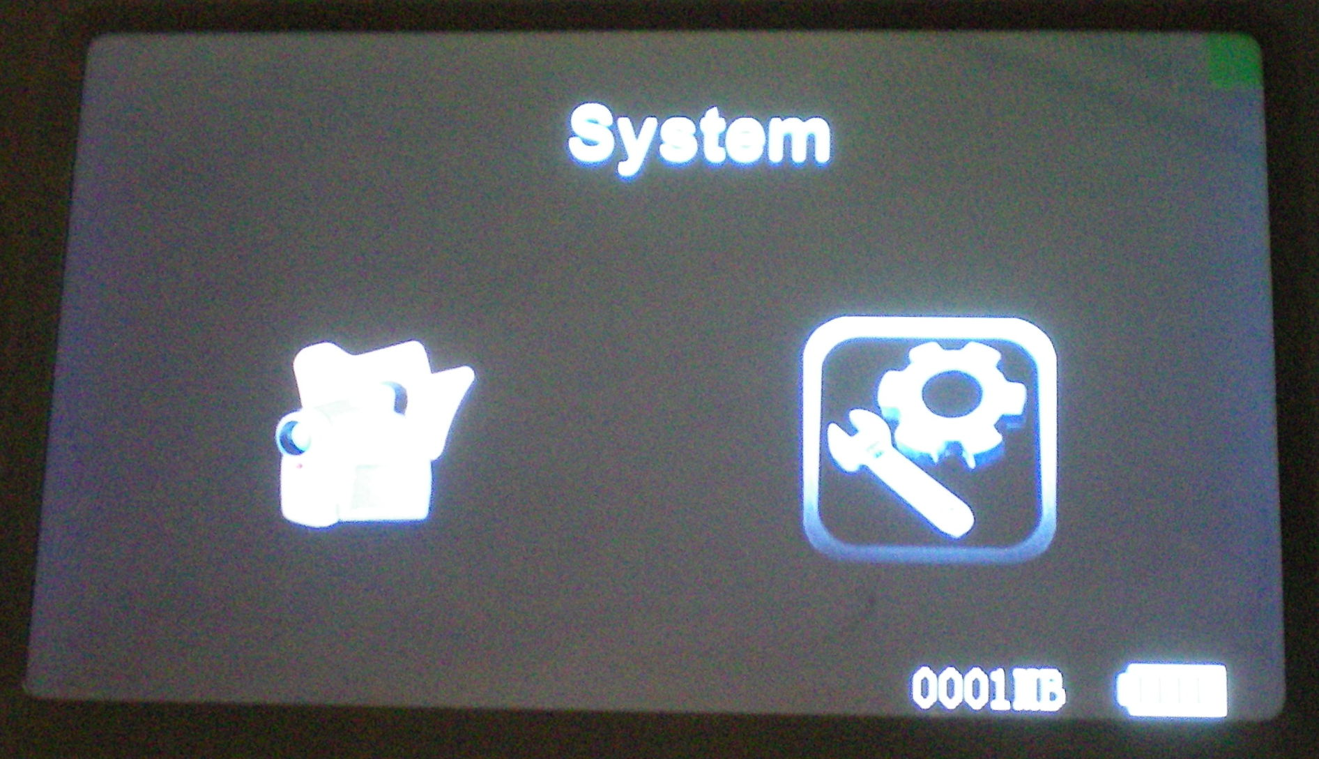 """The two main menus are called """"function"""" and """"system"""""""