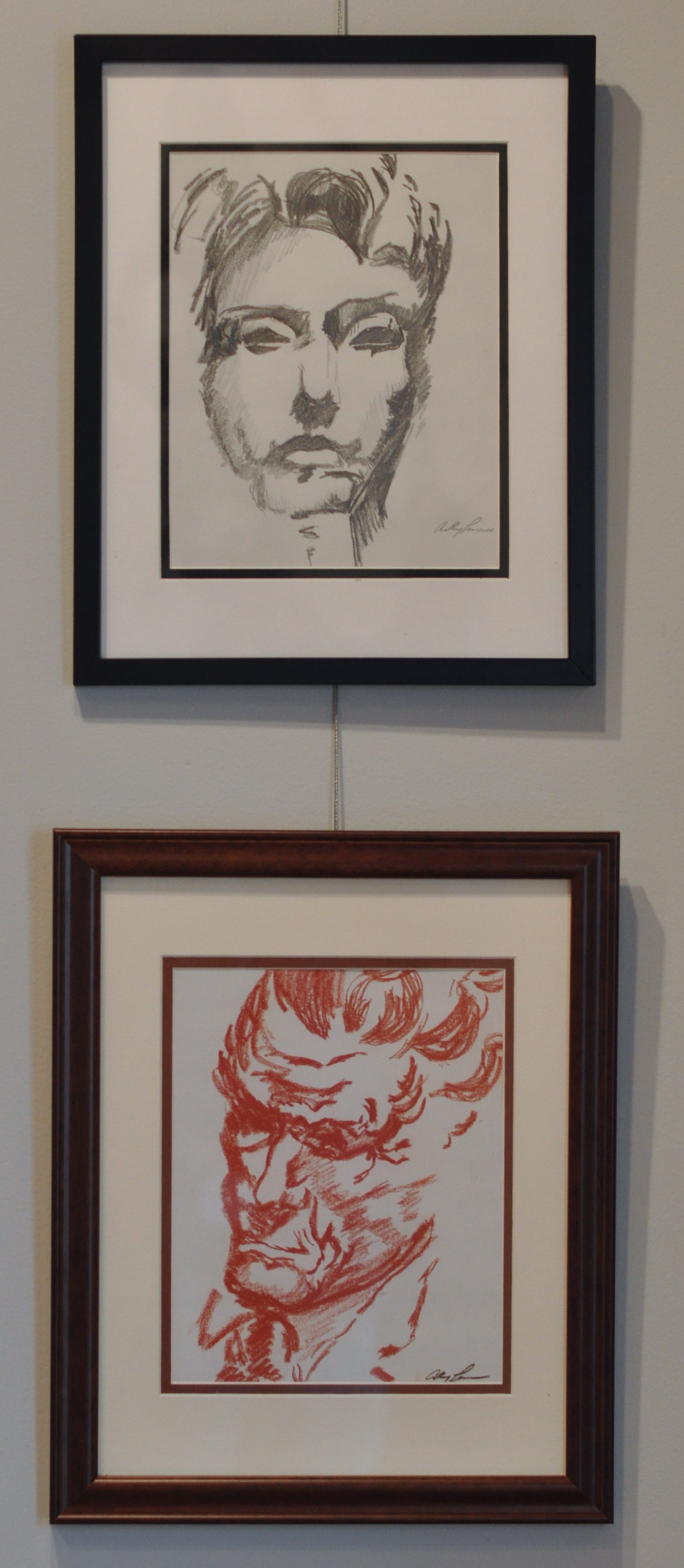 Untitled (top) Graphite, 2013  Untitled Conte crayon, 2012 ...   See More