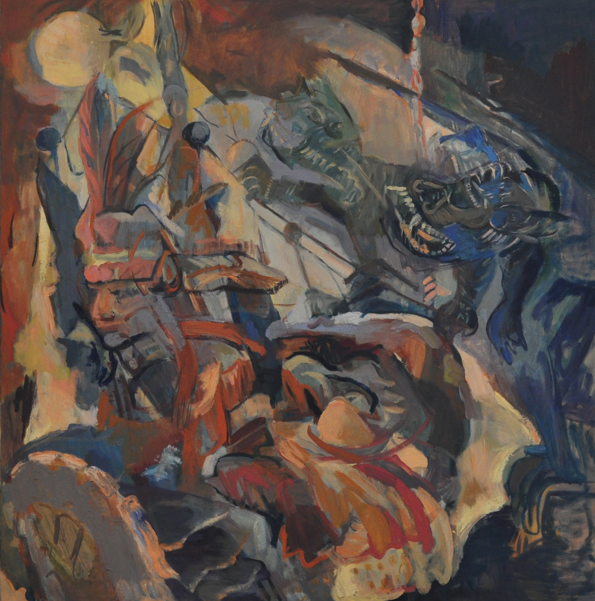 """Dark Oceans""   32 x 33, 2013    Tai Lipan   Class of 2002"