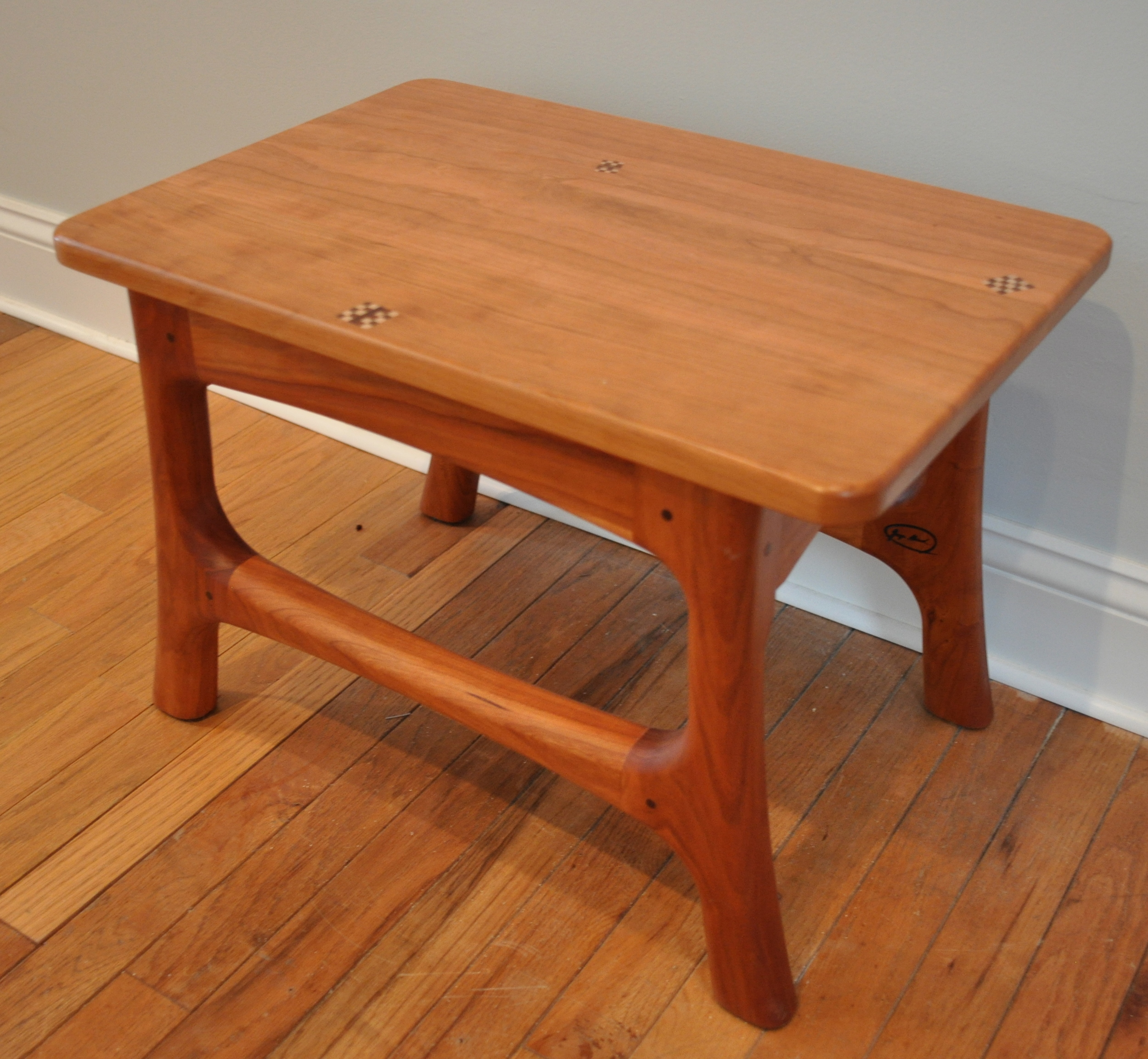 Large Footstool   Cherry, 2013    George Abiad   Class of 1989