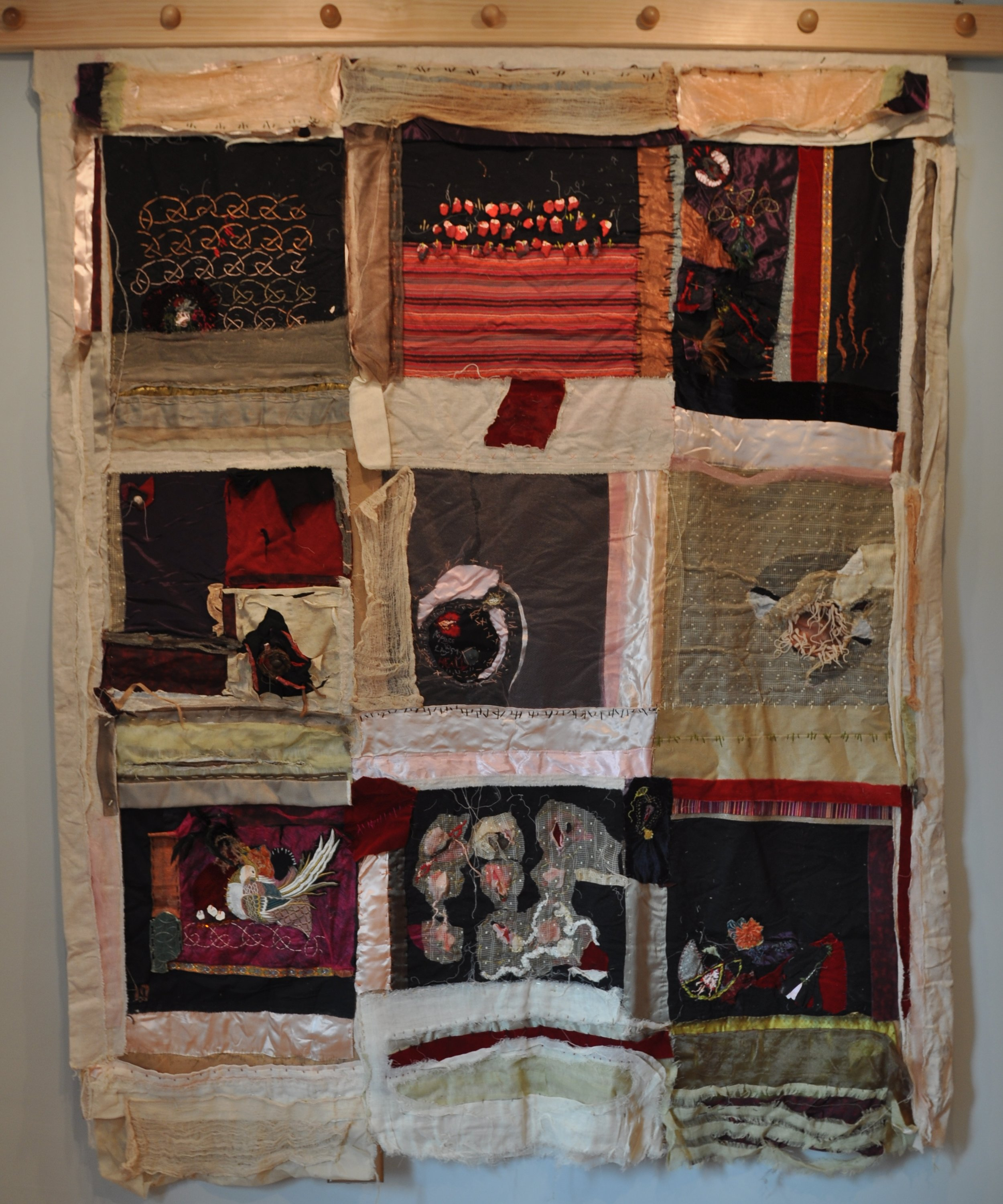 """No Place to Lay My Head""   mixed media, textiles  - Vanessa DeYoung"