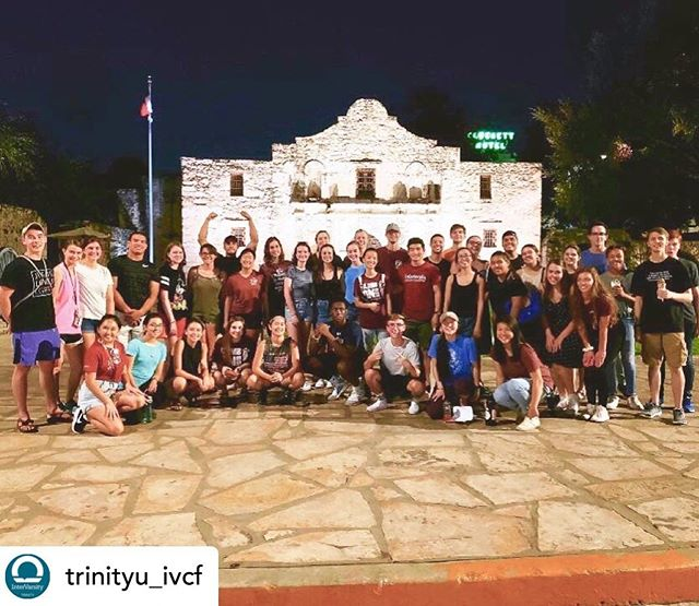 We see you Trinity University InterVarsity! ❤️ Having fun and building community at the Alamo! #nso #finesthour #community #fun #sanantonio #alamo #letsgo • @trinityu_ivcf Mosquitos, sweat and 90 degree weather can't stop us from having funnn 😆 Thanks to everyone who came to car bash tonight! And apologies to the inhabitants of downtown SA who had the misfortune of running into us. We hope y'all had a great time and got to know this beautiful city a little better!!