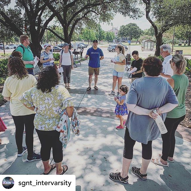 Wow! Praise God with us! Pray for this new chapter. #revival #churchpartnership #collegeministry #letsgo • @sgnt_intervarsity Bear Valley Church, their staff team, and members came to join us in praying for Tarrant County College NE. In partnership with our #everycampus movement we had hoped to reach a new campus beginning with prayer. What was amazing is at the end of our prayer time, President Kenya Ayers (President of TCCNE) jumped in to thank us for praying. Since then we've met with her and her staff team, and have become an official student organization. Not only that we began tabling last week, had 5 students sign up to be reps, 53 students signed up to attend our events, and our very first TCCNE IV Bible study that started this morning. So grateful for all the partnerships that God has opened up for us! One campus down and many more to go! #everycornerofeverycampus