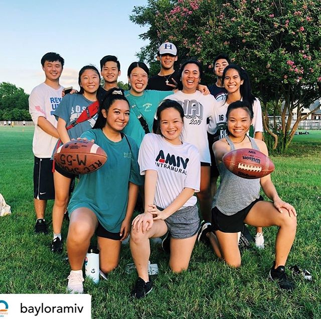 We see you Baylor AMIV! Love what the Lord is doing through you on campus! Hope you won the IM game! #everycampus #everycorner #collegeministry #letsgo • @bayloramiv Swipe to see us scaring the other team away😤 Flag football szn starts TONIGHT!! Come out to the IM fields at 9PM to support the girls and 10PM for the boys🙌🏻💪🏻🏈