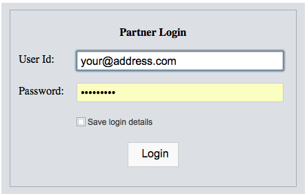 The login area is fully secured and encrypted. The user may change their password after logging in for security reasons. The look of the login panel may also be customized in the Profile manager.