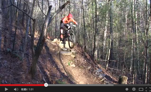Shop Profile - Dondi riding at the Ridgeway downhill trail.