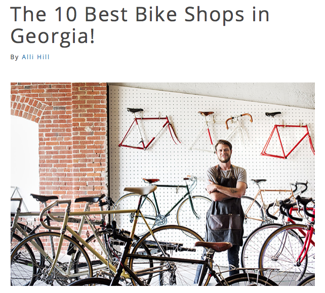 Cartecay Bike Shop voted best bike shop in Georgia for 2018.