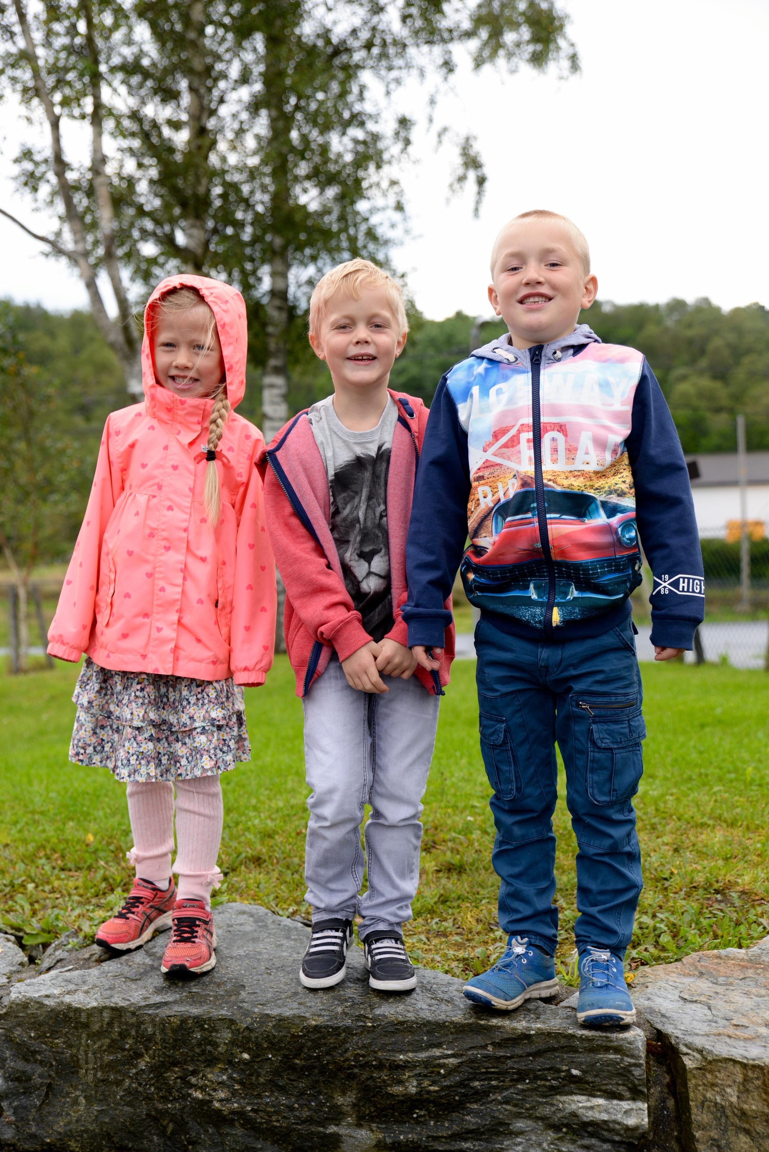 Frå venstre: Johanna, Noah og Lyder
