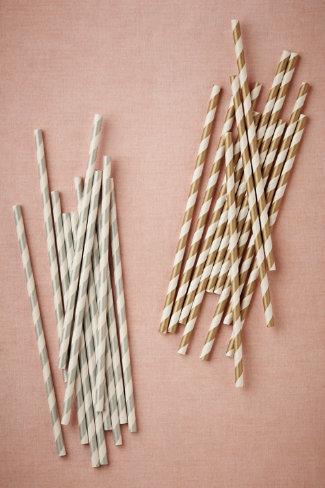 Metallic twirl straws, set of 25, $6 Bhldn.com