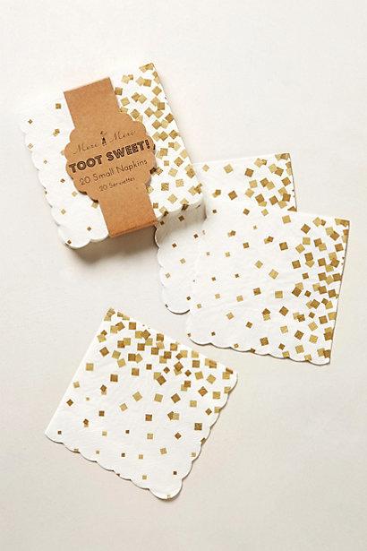 Confetti napkins, $8 Anthropologie
