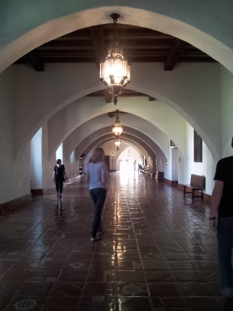 Main hallway of the courthouse.