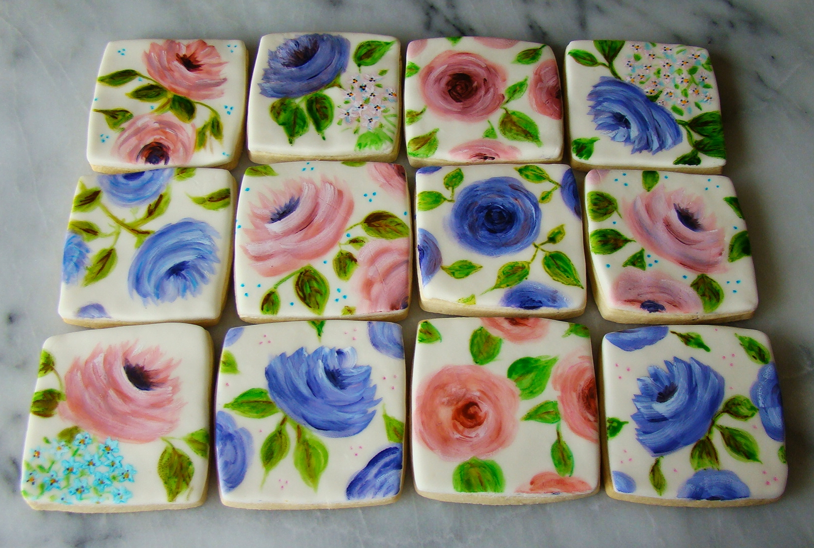 Hand painted floral cookies, available in my shop!