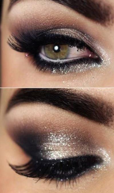 Silver glitter eyelids