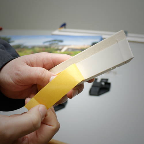 High quality adhesive tape eliminates the need for stretching pliers making stretching a gallery wrapped canvas a snap.