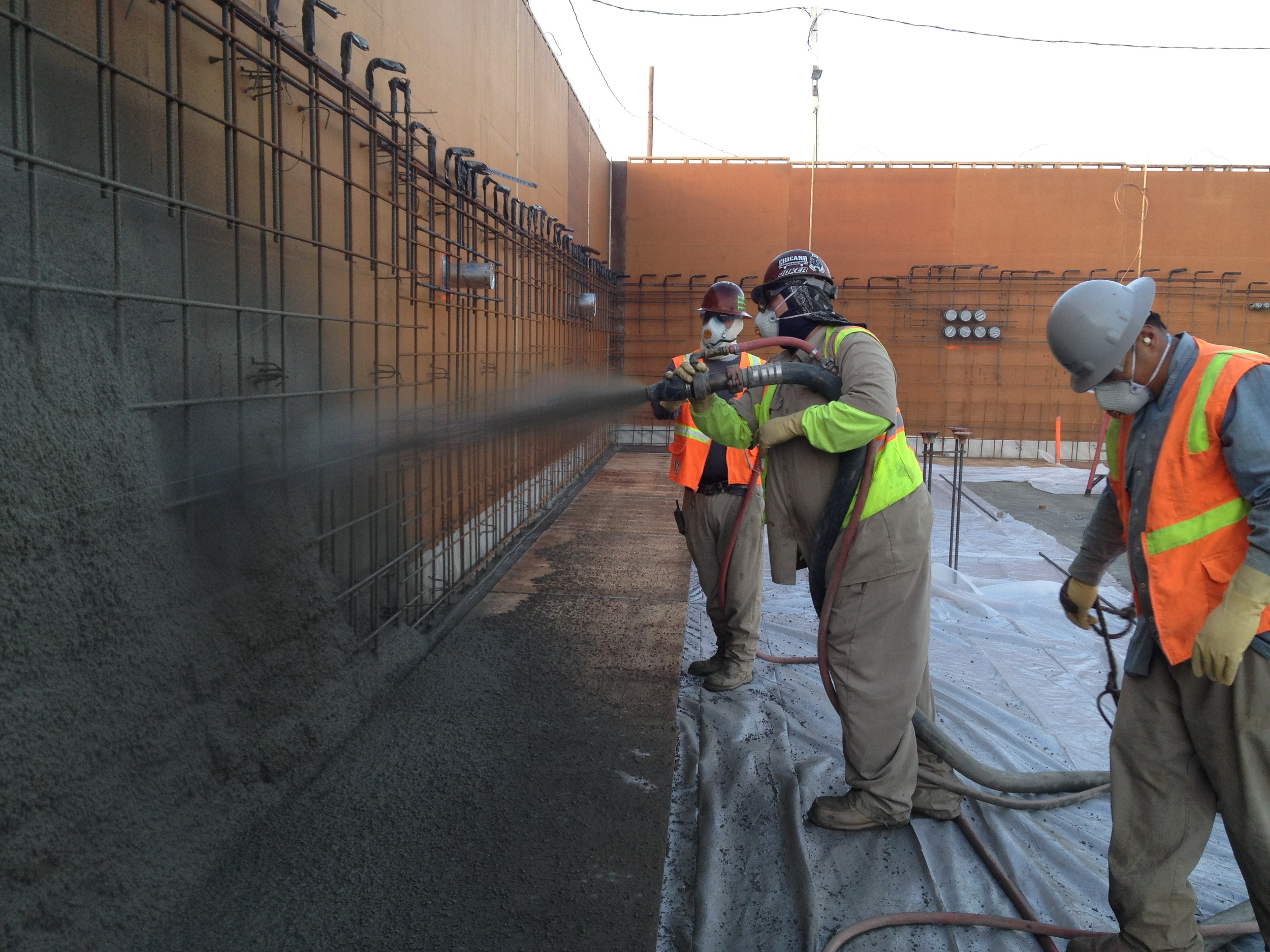 Shotcrete Against Forms